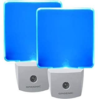 2 Pack 0.5W Plug In LED Night Light With Dusk To Dawn Sensor Blue