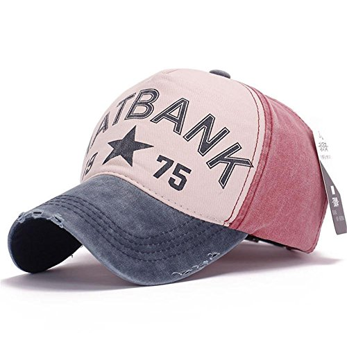 AxiEr Snapback Hats for Women Men,100% Cotton Adjustable Printed Hip Hop Flat Bill Baseball Cap