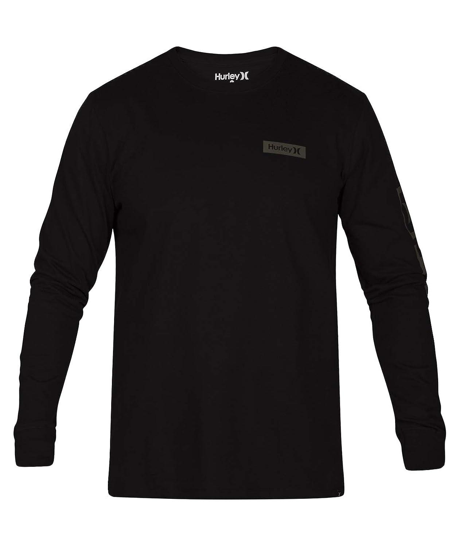 2ae44ddb Amazon.com: Hurley AJ1720 Men's Core Arm Long Sleeve Shirt: Clothing
