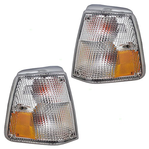 Driver and Passenger Park Signal Corner Marker Lights Lamps Lenses Replacement for Volvo 1312623-0 1312630-5