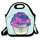 Best PackIt Ladies Lunch Bags - Starry Sky Cupcake Insulated Lunch Bag - Neoprene Review