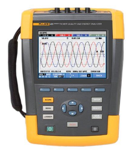 Fluke Network Analyzer - Fluke 435-II/BASIC Power Quality and Energy Analyzer, +/- 0.1% Accuracy, 0.01V Resolution