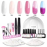Modelones Gel Nail Polish Kit with UV Light - 4 Pink Colors - Best Reviews Guide