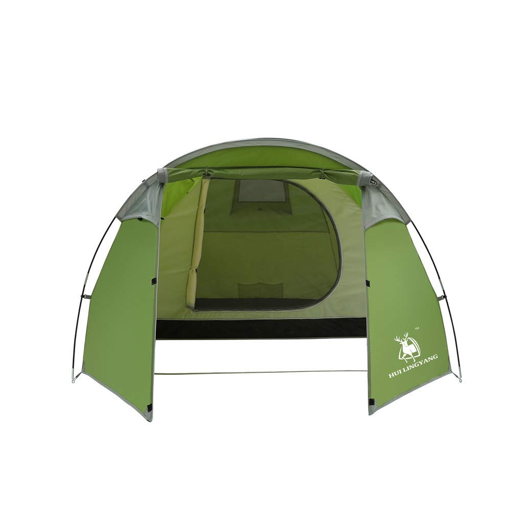 8-Person Tent for Camping | Tent with Easy Setup| Cabin Tent for Camping Instant Pop Up Family Camping Tent | Double Layer Waterproof 3 Season for Picnic Fishing Hiking Traveling (Green)
