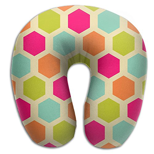 Lesi Yes U Shaped Neck Pillow Memory Foam Soft Colorful Diamond Indoor Outdoor Travel Airplane Car Office (Pro Car Wear Diamond)
