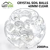 2000PCS WATER BALLS GROWING CRYSTAL SOIL AQUA BEADS 6.8MM CLEAR TABLE DECOR