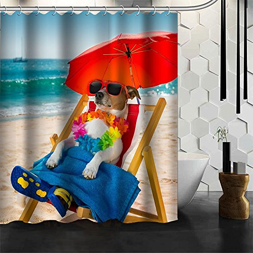 Best Changyun Funny Shower Curtain 60 X 72 Jack Russel Dog Resting On