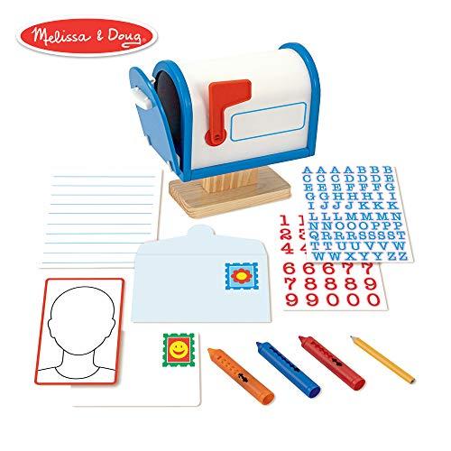 Melissa & Doug My Own Mailbox Wooden Activity Set (Pretend Toy Mailbox)]()