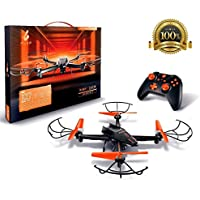 FUSE Drone With SuperHD Camera + 360 Degree Flips + 6-axis Gyro+ LED Lights + Headless Mode + Extra Battery Double Flight time + includes spare set of propellers - Great For Beginner And Expert Pilots