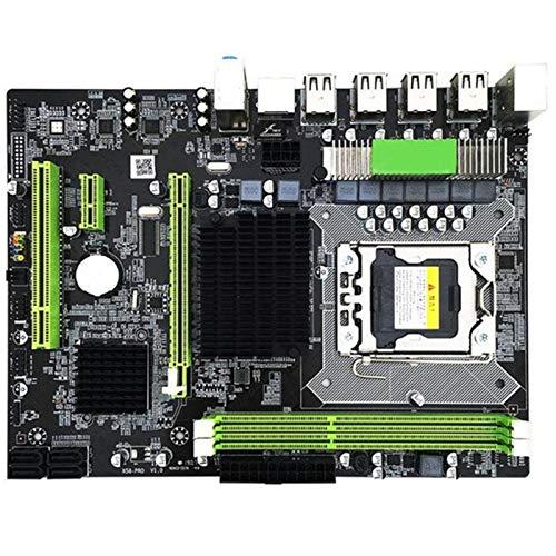 SODIAL X58 Pro Lga 1366 Socket Desktop Motherboard with Ddr3 for E5502 L5506 W3503 Ec3539 Lc3528 2Xddr3 Dimm 1366Pin Gaming Mainboard