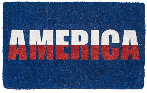 Entryways America , Hand-Stenciled, All-Natural Coconut Fiber Coir Doormat 18