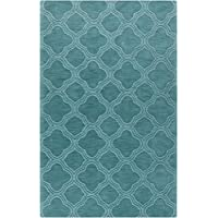 Surya Mystique M-422 Transitional Hand Loomed 100% Wool Teal Green 33 x 53 Area Rug