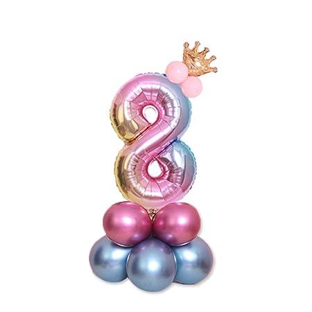 P12cheng Globos de Fiesta de cumpleaños decoración, 0 - 9 ...