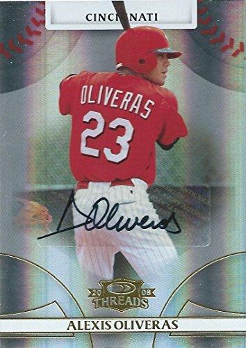 2008 Donruss Threads Gold ALEXIS OLIVERAS #/975 Auto Signatures