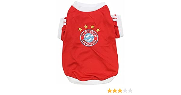 9a8819331 Amazon.com   New Pet Apparel FC Bayern Munich Dog   Cat Jersey Soccer  Munchen Football T Shirt Vest (XL)   Pet Supplies