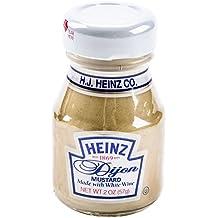 Heinz Dijon Mustard Mini Glass Bottles - Case of 60 (2.0 Oz. / 57 Ml.)