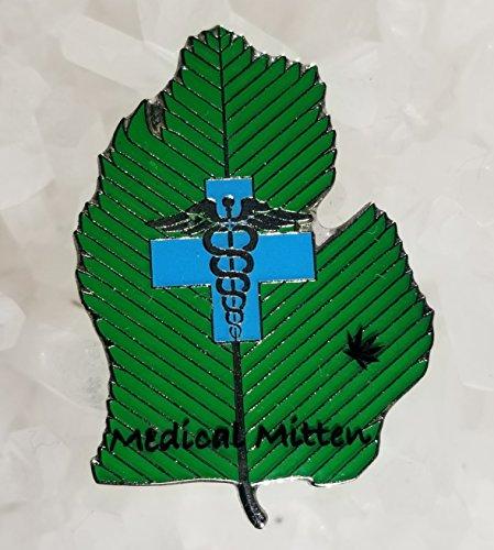 Medical Mittens Michigan Medical Marijuana Weed Enamel Hat Pin Limited Edition Numbered(i.e. 1/200) Festival Pin Grateful Dead Pin Dab Pin Disney Pin
