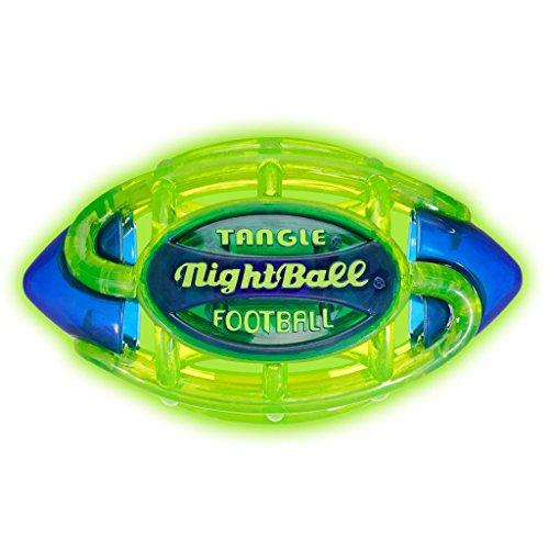 Tangle NightBall Glow in the Dark Light Up LED Football, Green with (Glow In The Dark Softball)