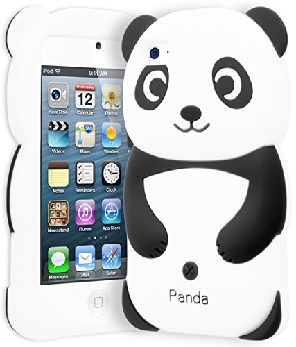 astex 3D Silicone Black & White Panda Bear Case for Apple iPod Touch 4 ()