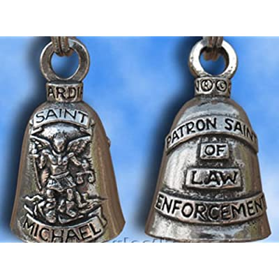 Saint Michael Guardian Bell Lucky Charm Pendant For Motorcycles: Automotive
