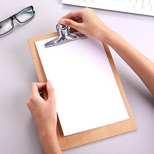 con foro per appenderlo Chrome clip per casa ufficio lavoro come da foto Udxvsdfhd creative cartellina A4/file di legno