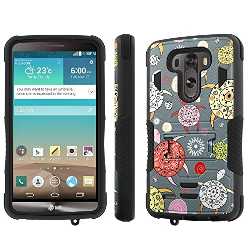 Click to buy LG G3 4G LTE [D855][Standard G3 with 5.5 Inch Screen] Case, [NakedShield] [Black/Black] Combat Tough SHOCK PROOF with KICKStand - [Pattern Sea Turtle] for LG G3 [5.5 Inch Screen] 4G LTE [D855] - From only $12.89