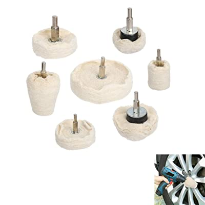 Onerbuy Polishing Buffing Wheels 7 PACK Kit Cotton Soft Buff Wheels Polishing Tool for metal, hardware,stainless steel, jewellery, aluminum products, wood, plastics, ceramics, watches,glass: Home Improvement