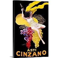 Cinzano Asti Aperitif Wine Vintage Canvas Wall Art Print, Wine Wall Art, 40.6x61 cm
