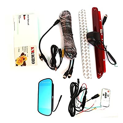 KNRAGHO Compatible with Brake Light Backup Camera B E N Z Sprinter/V W Crafter Vans LED Light Parking (with Monitor): Car Electronics