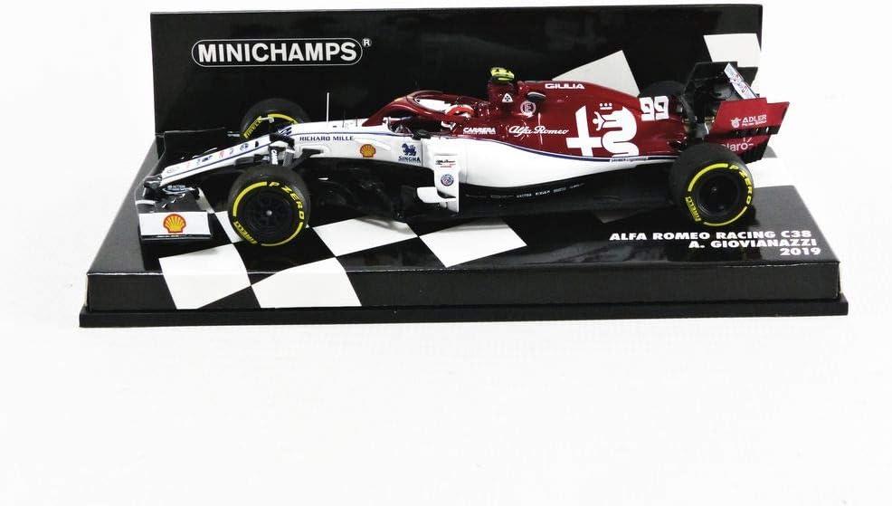 Minichamps 417190099 1:43 2019 Alfa Romeo Racing F1 C38-Antonio Giovinazzi, Multi