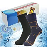Waterproof Breathable Socks, RANDY SUN Men's Crew Moisture Wicking Sock Great For Work Boots, Camping, Travel Size M