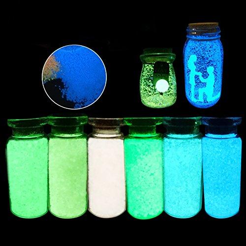 AWHAO 蓄光サンド 蛍光砂 夜光粒 蛍光顔料・暗闇で光る カラー顔料 蓄光材 夜光塗料