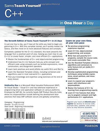 Sams Teach Yourself C In One Hour A Day Amazon Co Uk Siddhartha