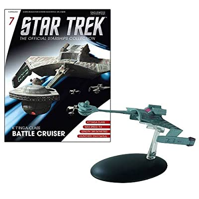 Eaglemoss Publications Star Trek Starships Klingon K't'inga Battle Cruiser Vehicle: Toys & Games