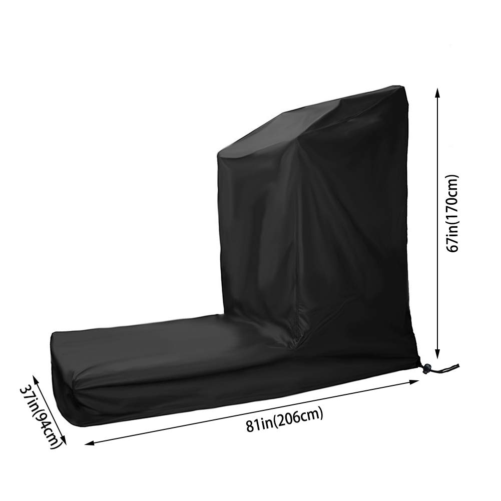 Kasla Treadmill Cover, Non-Folding Running Machine Protective Cover Dustproof Waterproof Cover Heavy Duty and Water-Resistant Fitness Equipment Fabric Ideal for Indoor or Outdoor Use (81×37×67in) by Kasla (Image #2)
