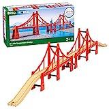 BRIO World - 33683 Double Suspension Bridge | 5 Piece Toy Train Accessory for Kids Age 3 and Up