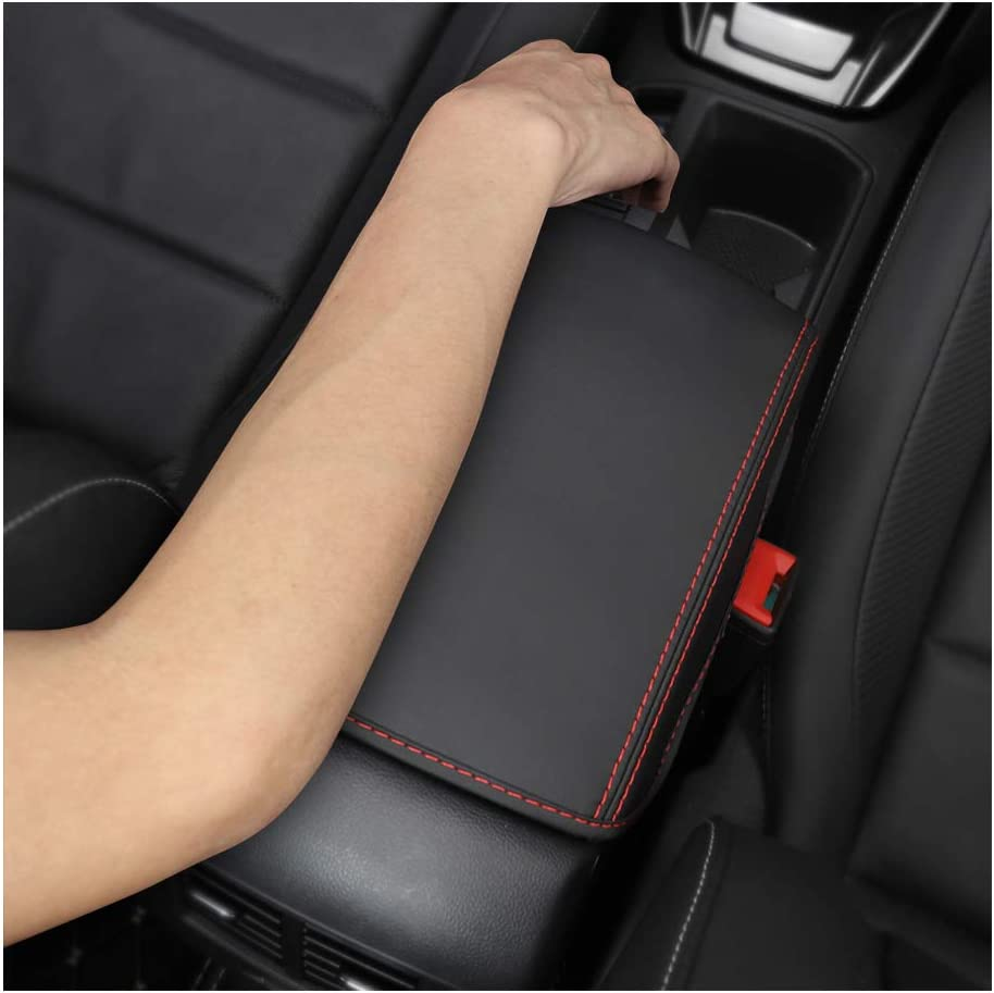 YEE PIN Armrest Cover for V W T ROC 2018 2019 Central Armrest Cover Leather Protective Armrest Protection Centre Console Accessories