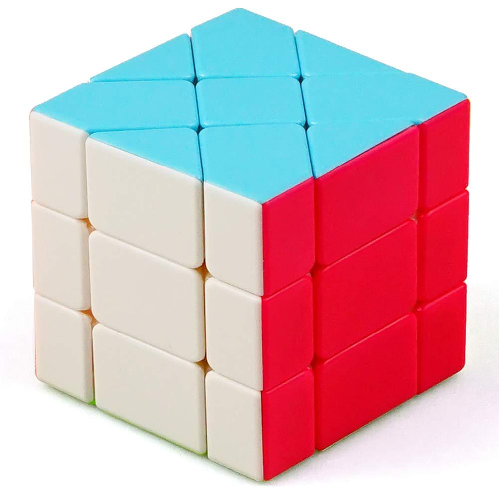 JIAAE 3X3 Variants Shaped Rubik's Cube Puzzle Colorful Moving Edge Rubik Children Intelligence Toy