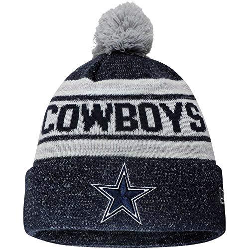 New Era Dallas Cowboys Toasty Cover Gray/Navy Sport Knit Beanie Unisex Hat, OSFM (Dallas New Era Beanie)