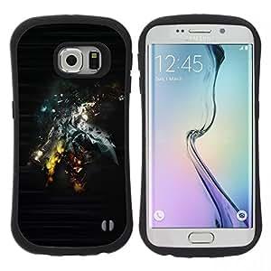 "Hypernova Slim Fit Dual Barniz Protector Caso Case Funda Para Samsung Galaxy S6 EDGE / SM-G925(NOT FOR S6!!!) [Extracto de Sci Fi Art""]"