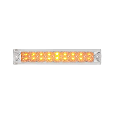 "Grand General 76986 Amber 12"" Double Row Spyder 18-LED Park/Turn/Clearance Sealed Light Bar: Automotive"