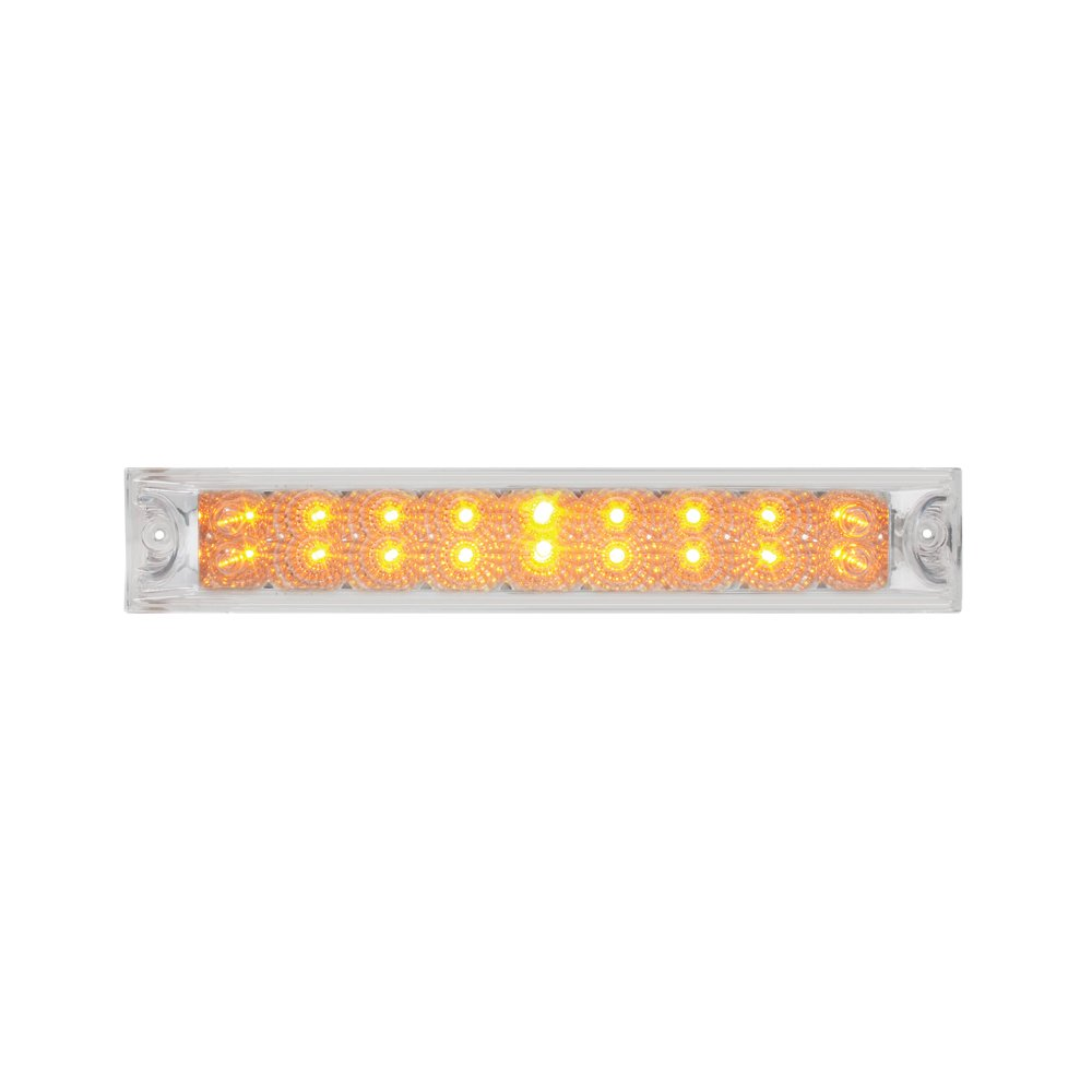 Grand General 76986 Amber 12'' Double Row Spyder 18-LED Park/Turn/Clearance Sealed Light Bar