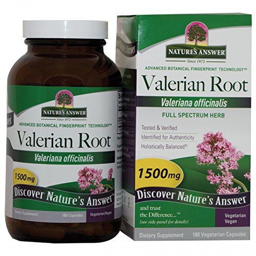 NATURE'S ANSWER, Valerian Root - 180 caps - Natures Answer Valerian