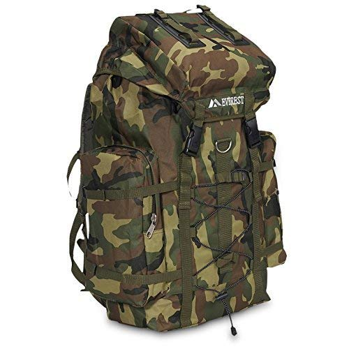 EVEREST Deluxe Large Camo Army Military Backpack Hiking Camping Gear ()