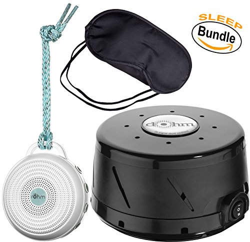 Marpac Dohm-DS All Natural Sound Machine - Black, Marpac Rohm Portable Electronic White Noise Sound Machine - White & Zonoz...
