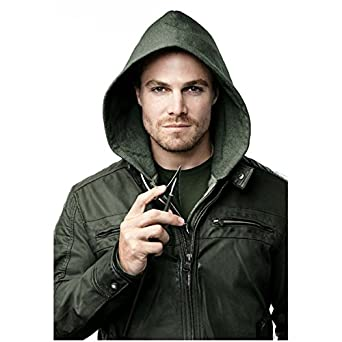 Arrow Stephen Amell as Oliver Queen with Green Jacket and Hood ...
