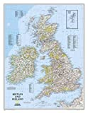 Britain And Ireland Executive Laminated Map: Wall Maps Countries & Regions: NG.P602022 (National Geographic Reference Map)