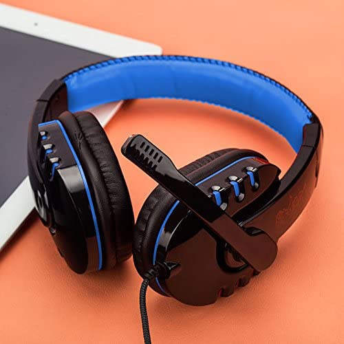 Gaming Headset,Virtual USB Surround Stereo Wired Gaming Headphones Over Ear Gaming Earphone with Mic Volume Control Noise Canceling for PC