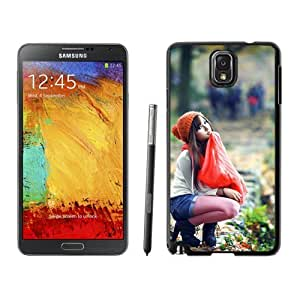 New Beautiful Custom Designed Cover Case For Samsung Galaxy Note 3 N900A N900V N900P N900T With Red Scarf Girl Phone Case