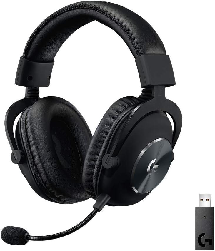 Logitech G Pro X Auriculares Inalámbricos Lightspeed para Gaming, Micrófono Blue Voice, Controladores Pro-G de 50 mm, DTS Sonido Envolvente X 2.0, Memory Foam, PC, Batería de 20 Horas